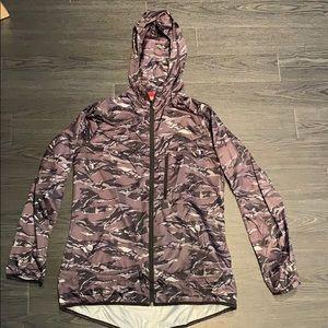 Nike super thin black camo hooded raincoat